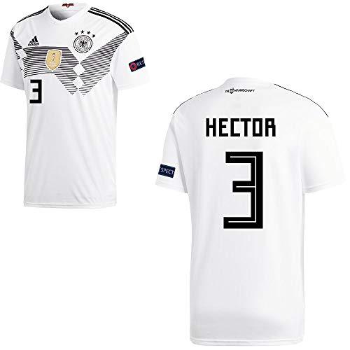 adidas Fußball DFB Deutschland Home Trikot WM 2018 Kinder Hector 3 mit Respekt Logo Gr 152