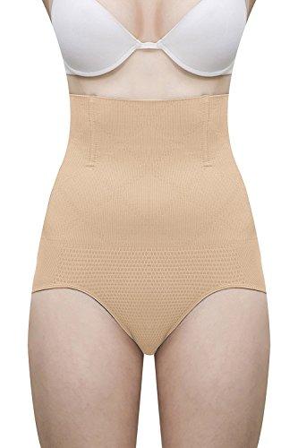 Mysha Grip Wire No Rolling Down Tummy Tucker Women's Shapewear (XX-Large) Beige