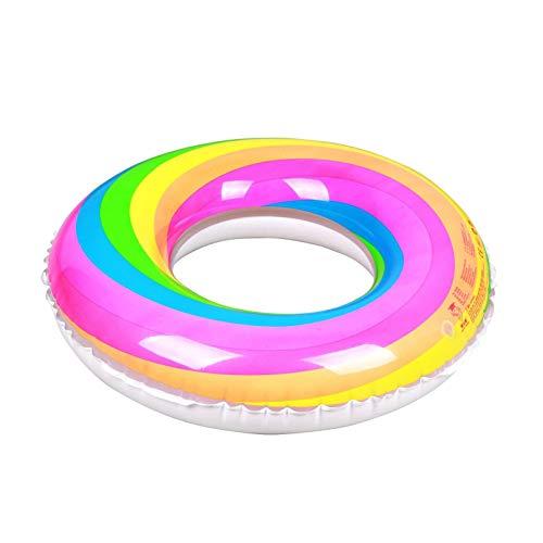 xianhuabing Anillo de natación Inflable Accesorios para Piscina Anillo de natación arcoíris para Adultos y niños (23,6-35,4 Pulgadas de diámetro Exterior)