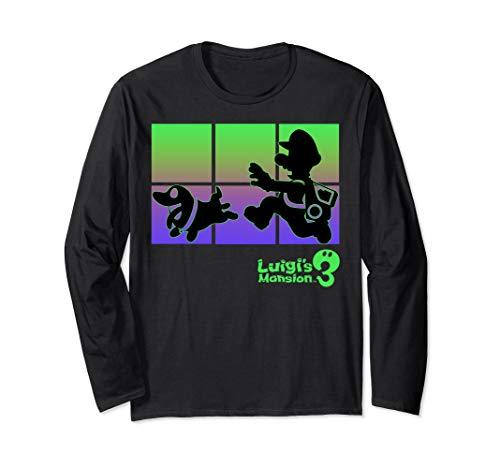 Luigi's Mansion 3 Luigi And Polterpup Silhouette Long Sleeve T-Shirt