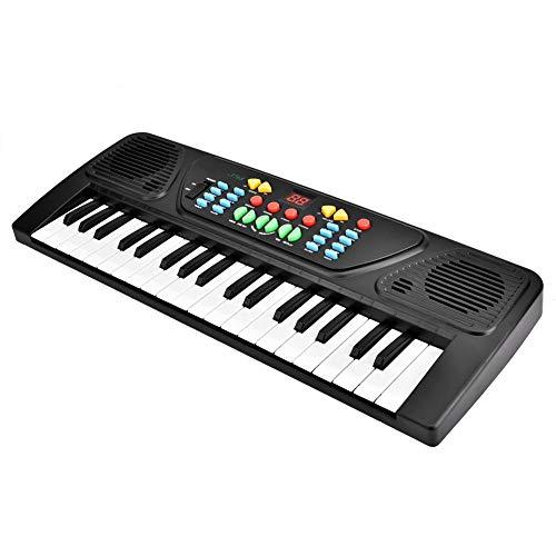 Piano eléctrico de teclado, instrumento musical de piano eléctrico ambiental juguete de volumen ajustable para ejercitar su coordinación mano-ojo