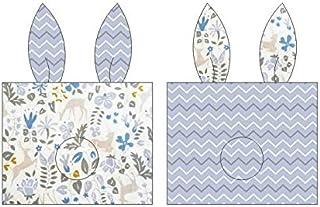 YYBF Almohada de bebé estereotipo Almohada Anti-Parcial Cabeza Hueso Almohada 0-1 año de Edad Almohada de algodón Transpirable Almohada de algodón Todo algodón Flor Azul