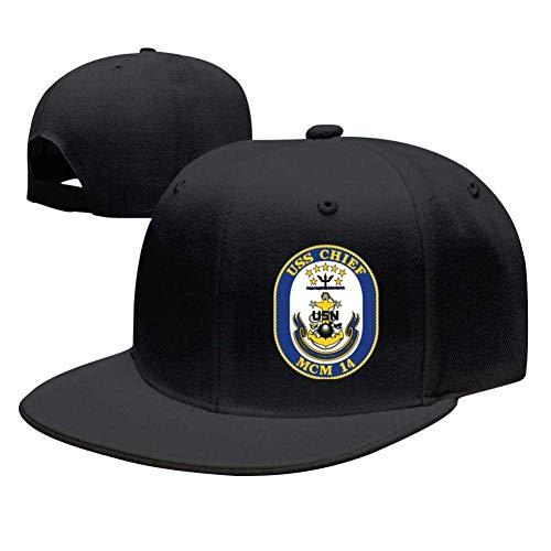 SuyuttiER USS Chief MCM-14 Baseball Cap Adjustable Trucker Hat Dad Hat Black