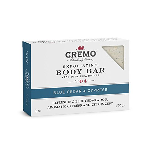 Cremo Exfoliating Body Bar With Shea Butter - Blue Cedar & Cypress, 6 ounce