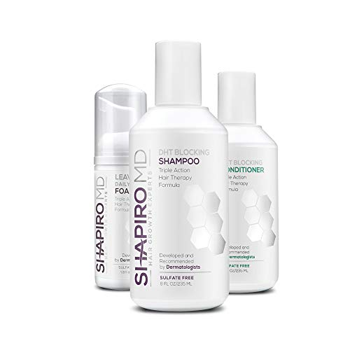 Shapiro MD Patented Hair Kit for Thicker, Fuller, Healthier Looking Hair - Including Shampoo, Conditioner, and Leave-In Daily Foam (2 Month)