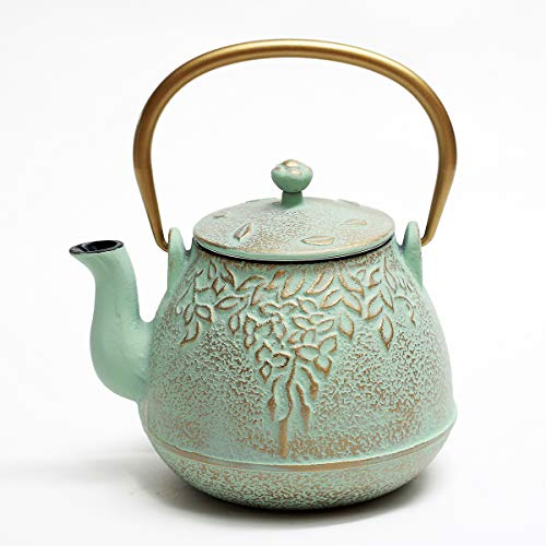 Tea Kettle, TOPTIER Japanese Cast Iron Teapot with Stainless Steel Infuser, Cast Iron Tea Kettle...