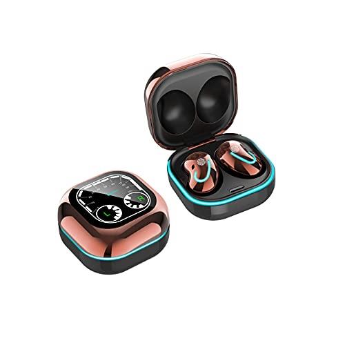 Auriculares inalámbricos, auriculares inalámbricos con sonido estéreo CVC 8.0, cancelación de ruido por carga, IPX4, impermeables, inalámbricos, con funda de carga inalámbrica