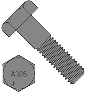 PT 1-1//4-7 X 4-1//4 A325 Type 1 Heavy Hex Structural Bolt Coarse Plain Finish USA Unytite