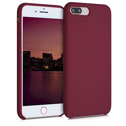 kwmobile Funda Compatible con Apple iPhone 7 Plus / 8 Plus - Funda Carcasa de TPU para móvil - Cover Trasero en Rojo lacre