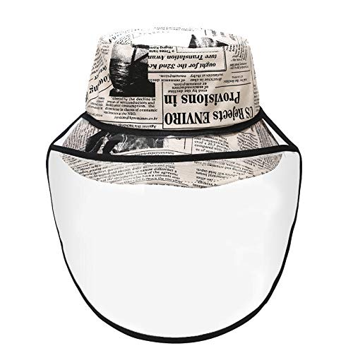 Tingxx Anti Saliva And Anti Dropping Hat Women Street Trend Windshield Fisherman Hat Men Outdoor Protective Hat Beige_