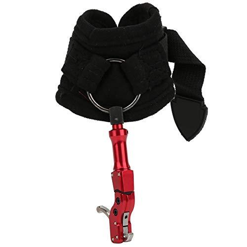 Disreemplazo parador de ayuda de liberación de arco compuesto, 318 Tipo de gancho Correa de muñeca Disreemplazo parador de tiro con arco Compuesto Asistente de disparo de arco al aire libre(Boca roja)