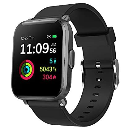 Reloj Inteligente Hombre Mujer, GRDE Smartwatch Fitness 24H Monitor de Oxigeno(SpO2)/Ritmo Cardíaco/Sueño 5ATM Impermeable Reloj GPS Running con 18 Modo Deportivos, Reloj Pantalla Táctil con Podómetro