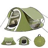 BMDHA Tente Pop Up Poids LéGer Tente De Camping Grand 2S Automatique Construire Tentes Portable Pliable Tente 3-4 Personnes éTanche ImperméAble Toile De Tente pour Voyage/ExtéRieur