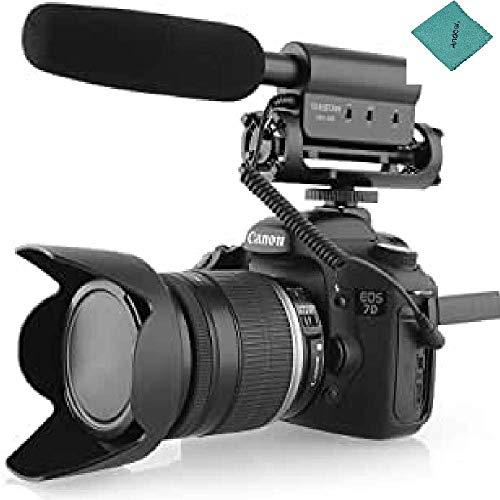 TAKSTAR Condensador Fotografía Entrevista Micrófono de grabación compatible con Canon Nikon Cámara DSLR DV SGC-598