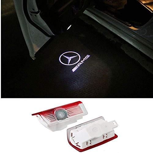 KVCH 2 Pcs LED Lampe de courtoisie Nouveau type Non-fading glass Super lumineux porte de voiture Laser Projector Logo Ghost Ombre Lumi/ères Lumi/ère de bienvenue