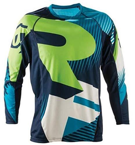 Meixiang Sweatshirt T-Shirt Für Offroad-Rennen, Fahrrad-Downhill-Trikot, Motocross-Motorrad-Trikot, Grün, XL