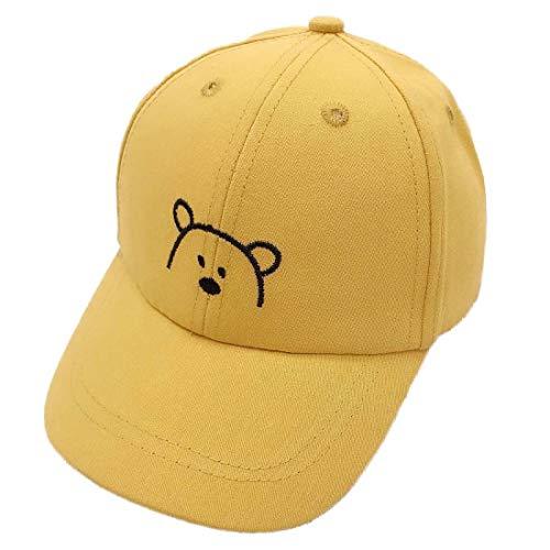 Yixda Baby Kids Kappe Junge Mädchen Verstellbar Sonnenhut Baseball Cap (Gelb)