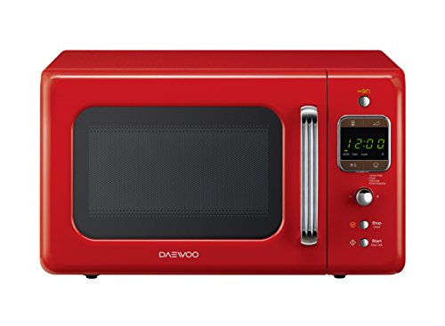 Daewoo KOR-6LBR Forno a Microonde Digitale, Rosso, 20 litri
