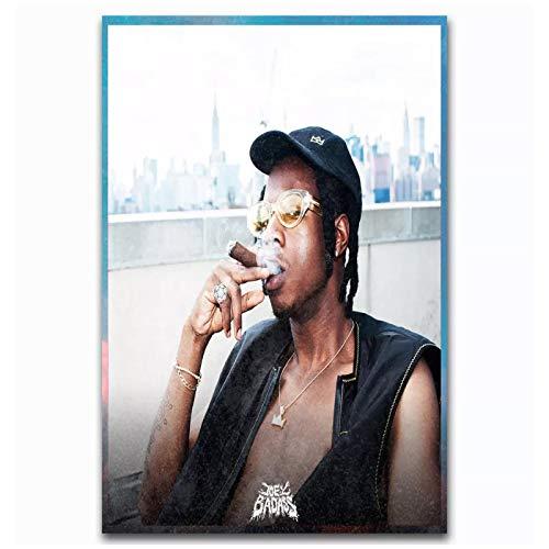 wzgsffs Joey Bada $$ Demasiado Iluminado Cartel E Impresiones De La Estrella De La Música Rap Impresión De Arte De Pared En Lienzo para Sala De Estar Dormitorio En Casa -16X24 Pulgadas X 1 Sin Marco