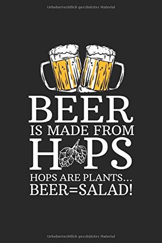 Notizbuch: Bier Salat Gemüse Hopfen Malz Gesund Witz Geschenk 120 Seiten, 6X9 (Ca. A5), Karomuster