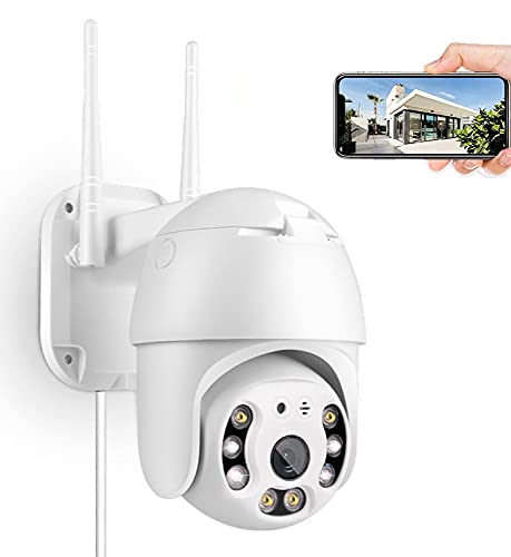 2K 3MP Security Camera Outdoor, Pan/Tilt Home Wireless WiFi IP Camera, Plug-in PTZ Camera Outdoor, Dome Surveillance CCTV Waterproof Camera, Two Way Audio, Night Vision, Auto-Tracking/ Human Detection