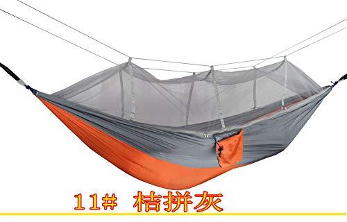 PPPERT hangmat, outdoor dubbele hangmat met muggennet-parachute doek camping hangmat, 200 kg lading,