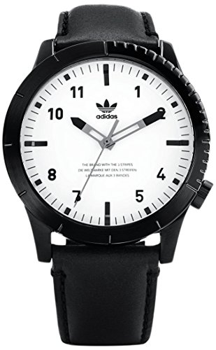 Adidas Herren Analog Quarz Uhr mit Leder Armband Z06-005-00