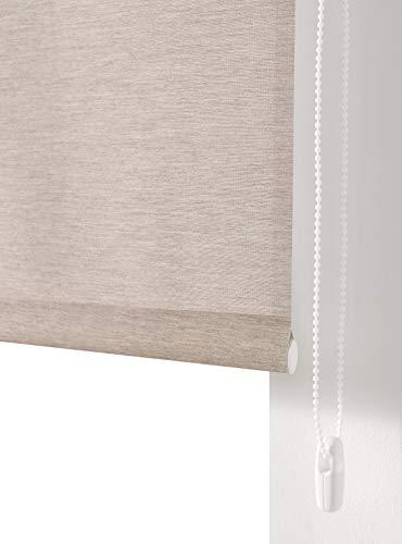 Estoralis BRAN Estor Enrollable Liso Translucido, Poliester, Lino, 130 x 175 cm