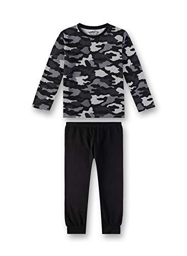 Sanetta Jungen Pyjama Zweiteiliger Schlafanzug, Grau (Light Grey 1604), (Herstellergröße: 128)