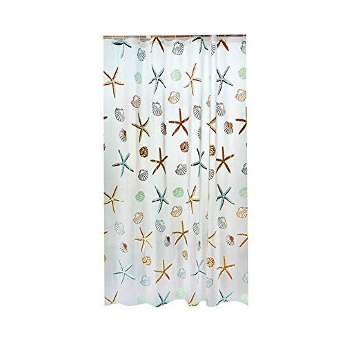Fliyeong - Cortina de Ducha, diseño de Estrellas, Resistente al Agua, Accesorio de baño, 1 Pieza