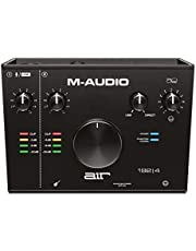 M-Audio AIR 192|4 - Interfaz de audio / tarjeta de sonido USB / USB-C, 2 entradas y 2 salidas, paquete de software ProTools|First, Ableton Live Lite, Eleven Lite, efectos de Avid y de AIR Music Tech