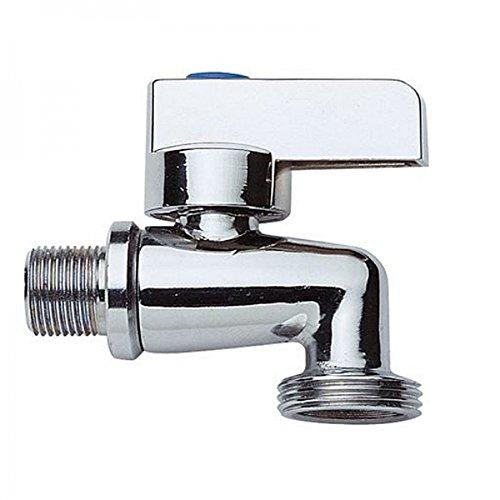 Geräteventil / Kombi-Eckventil / Maschinenventil / Maschinenanschluss für Waschmaschinen / aus Messing / hochwertig verchromt / massiv