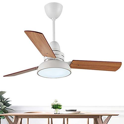 Ceiling Fan Light Ventilador de Techo con luz De 3 Palas Ventiladores De Techo De Madera Industriales con Ventiladores De Techo Decorativos Ligeros para El Hogar (Blanco,Verde,Negro,Gris)