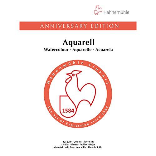 Aquarellblock Jubiläum matt 425g/m², 30x40cm, 15Blatt