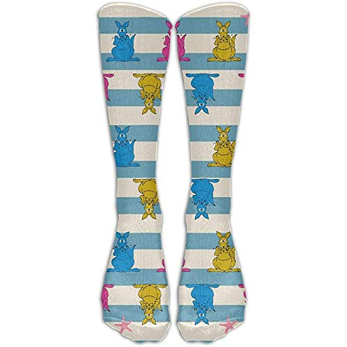 Yuanmeiju Socks-Starfish Kangaroo Unisex Long Socks Crew Athletic Knee High Stockings