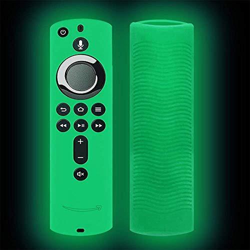A✞J Silicone beschermhoes met afstandsbediening, glanzend, voor tv-stok, 4K/vuur TV (3RD-generatie), antislip, schokbestendig, afstandsbediening