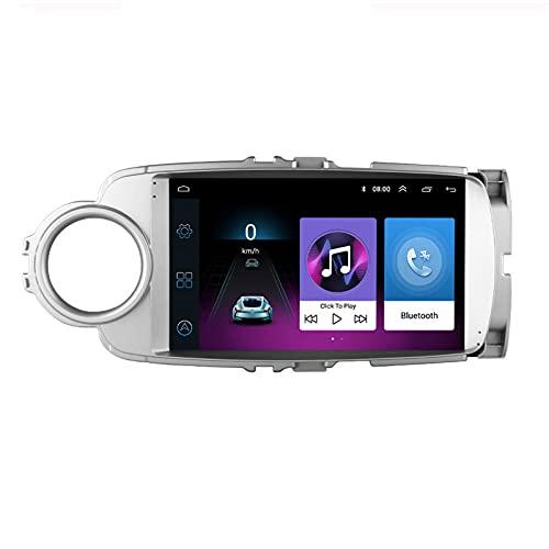 Android 9 Head Unit 2 DIN 9 Pulgadas Radio Para Toyota Yaris 2012~2017 Volante Manos Libres Call Music Video Car Audio Player 2USB Puerto Steering Wheel Control FM RDS Mirror Link ,4cores,1G+16G