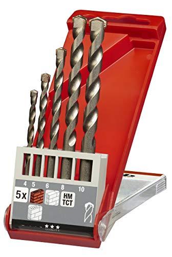 kwb Steinbohrer und Betonhohrer-Set – Werkzeug-Box, 5-teilig (Bohrer füt Stein und Beton für alle Dreh- und Schlagbohrmaschinen)