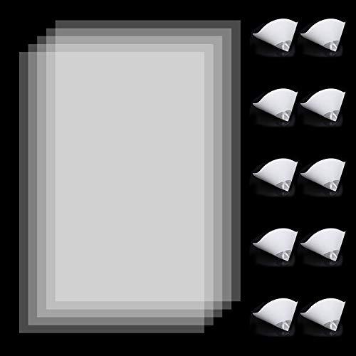 5 PCS LCD FEP Pellicola + 10 PCS Filtro di Carta in Resina, FEP Film FEP foglio pellicola, 200 x 140 x 0,15 mm per Stampante 3D UV 3D in Resina Fotonica o Accessorio Stampante DLP/LCD 3D