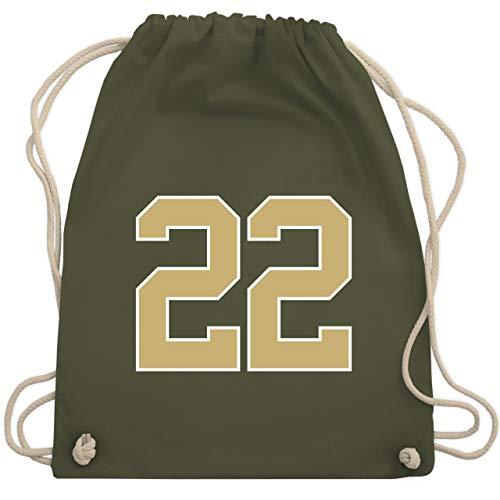 Shirtracer American Football - Football New Orleans 22 - Unisize - Olivgrün - WM110 - Turnbeutel und Stoffbeutel aus Bio-Baumwolle