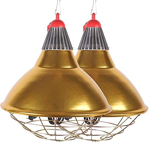 MARHD Lámpara de Calor para Cachorros, lámpara de Calentamiento de Cultivo para gallinero, Granja de Cerdos, Temperatura Ajustable, Luces de Calentamiento en Invierno Pantalla de aleación