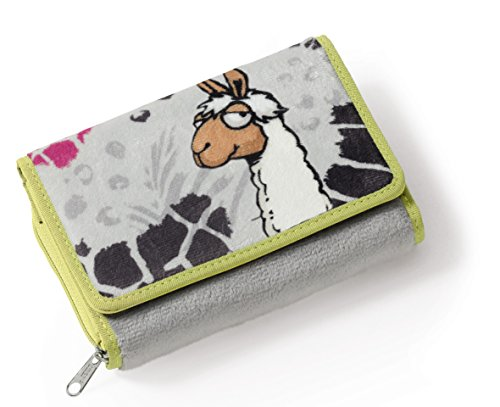Nici 38229Wallet Lama Plush with Zip Separate Coin Pocket Paper...