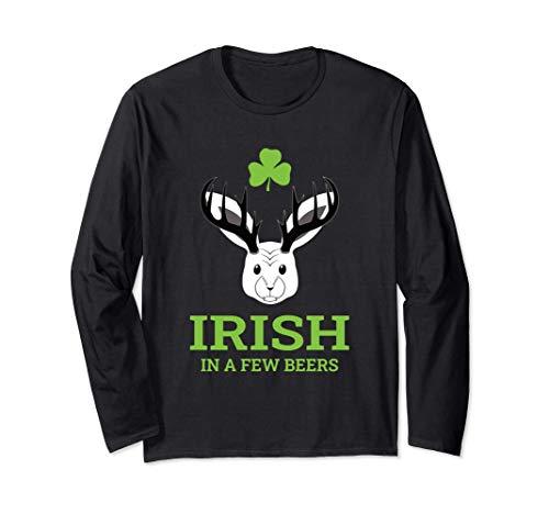 Irish in a few beers - bayrisches Wolpertinger Bier Pub Langarmshirt