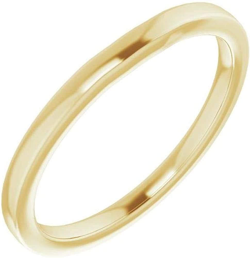 Milwaukee Mall Solid 10K Yellow Gold Curved Sales of SALE items from new works Notched Wedding Band for Sq 5mm 5 x