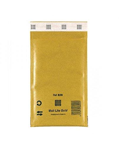 MAIL LITE 10 buste imbottite gold b 12x21cm utile avana