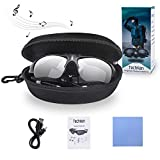 TechKen Sunglasses Headset Headphone Bluetooth Wireless Music Sunglasses Headsets Compatible iPhone Samsung LG and Smart Phones PC Tablets