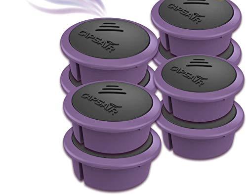 CAPSAIR Mottenschutz-Bügel | Kleiderbügel mit echten Lavendelblüten | Schützt die Kleidung vor Motten | Neutralisiert Gerüche | Caps Perfume Systems (Ersatzkapsel 8 x Lavendel)