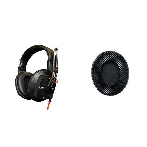 Fostex T50RPMK3 Professional Semi-Open Headphone, Black & Shure HPAEC1540 Replacement Ear Pads for SRH1540 Headphones (2 Pieces)