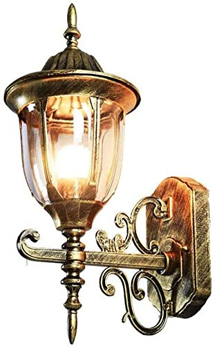 Apliques de exterior, lámpara de pared de aluminio fundido a presión, puerta de balcón, calle, jardín, pasillo, balcón, aplique de pared, lámpara de pared de linterna impermeable, lámpara de pared eu