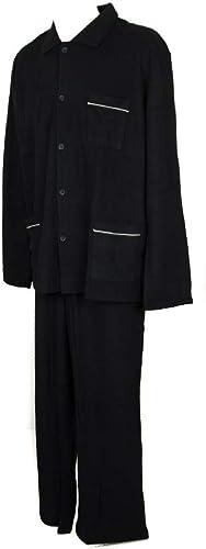 RAGNO Pyjama pour Hommes en Polaire Douce, Manches Longues Ouvertes avec Boutons Article N26352